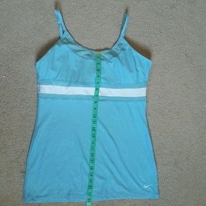 NIKE tank with built in adjustable bra